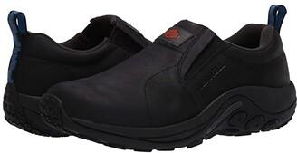 Merrell Work Jungle Moc Leather Slip Resistant (Black) Men's Shoes