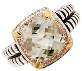 Lord & Taylor Sterling Silver and 14K Yellow Gold Multi Ring