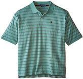 U.S. Polo Assn. Men's Big-Tall Slim Fit Interlock Striped Polo Shirt
