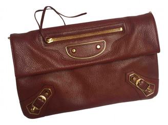 Balenciaga Envelop Burgundy Leather Clutch bags