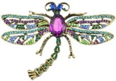 RichBest Brooch For Girl Vintage Lovely Dragonfly Crystal Scarf Lapel Pin For Women