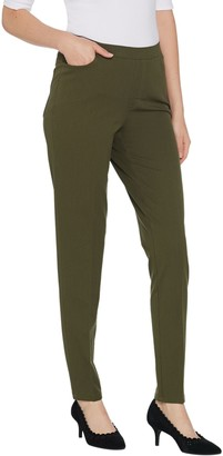 Isaac Mizrahi Live! Petite 24/7 Stretch Slim Leg Pants with Pockets