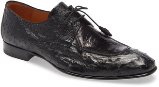 Mezlan Amadeus Ostrich Leather Split Toe Derby