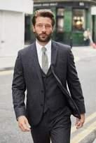 Mens Next Navy Stripe Nep Slim Fit Suit: Trousers - Blue