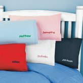 One Step Ahead - Kids Pillow Cover Personalized with Letters - Poplin Blue