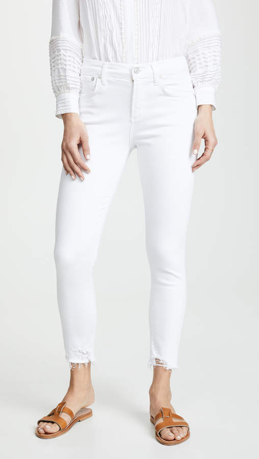 AGOLDE High Rise Sophie Skinny Crop Jeans