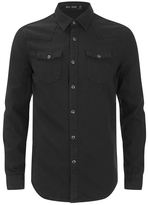 Blk Dnm Fitted Denim Shirt Pocono Black