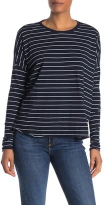 Frank And Eileen Striped Long Dolman Sleeve T-Shirt