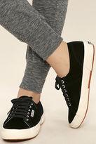 Superga 2750 VELVTW Black Velvet Sneakers