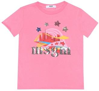 Msgm Kids Printed cotton T-shirt
