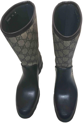 Gucci Brown Rubber Boots