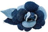 Chanel Denim Camellia Brooch
