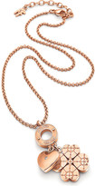 Folli Follie Heart4heart Sweetheart rose gold-plated necklace