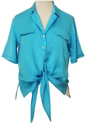 Basile Blue Silk Top for Women