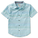 Calvin Klein Big Boys 8-20 Fused Horizontal-Stripe Shirt