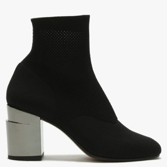Clergerie Keane Black Knitted Sock Ankle Boots