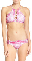 Lucky Brand Effie Patchwork Reversible Hipster Bikini Bottoms