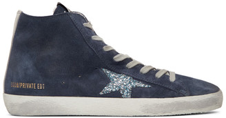Golden Goose SSENSE Exclusive Navy Monday Francy Sneakers