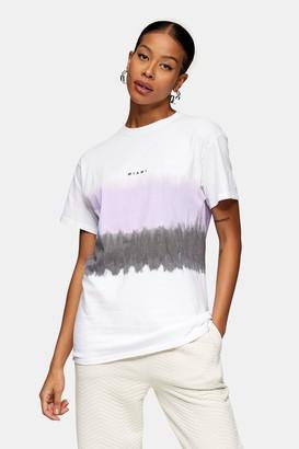 Topman Womens Lilac Tie Dye Miami T-Shirt - Lilac