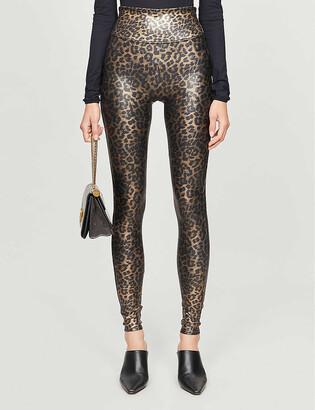 Spanx Leopard-print high-rise stretch-jersey leggings