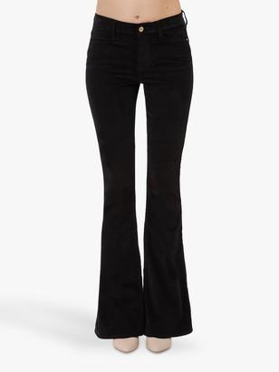 Frame Le High Flare Jeans, Noir
