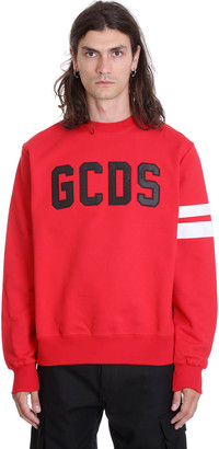 GCDS Sweatshirt In Red Cotton