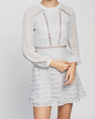 Topshop Lace Up Shoulder Mini Dress