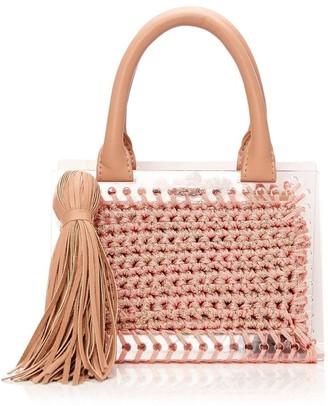 Moda In Pelle Minibag Rose Gold Fabric