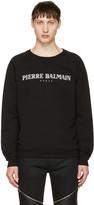Pierre Balmain Black Logo Pullover