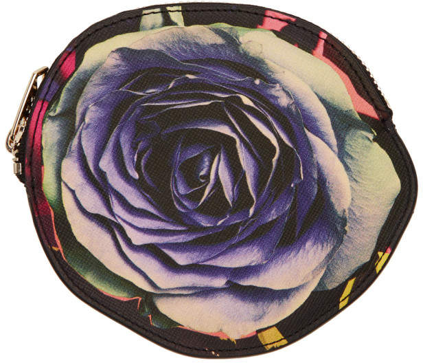 Paul Smith Multicolor Collage Rose Pouch