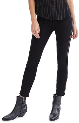 Seven London Chain Trim Ankle Skinny Jeans