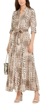 INC International Concepts Petite Animal-Print Shirtdress, Created for Macy's