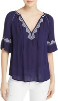 Paige Chessa Embroidered Blouse