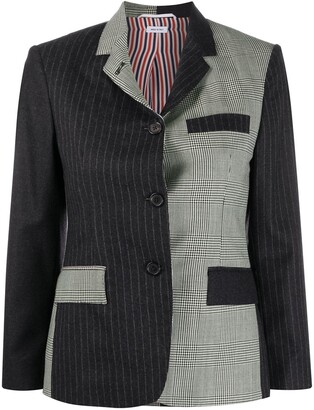 Thom Browne Narrow Shoulder Classic Sportcoat Funmix In Engineered Pow Heavy Wool