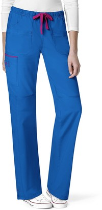 WONDERWINK Women's Tall-Plus-Size Wonderflex Plus Joy Denim Style Staight Leg Scrub Pant Tall