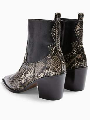Topshop TopshopBliss Wide Fit Western Boots - Black
