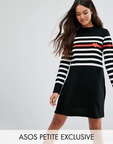 Asos Knitted Dress with Stripe and Heart