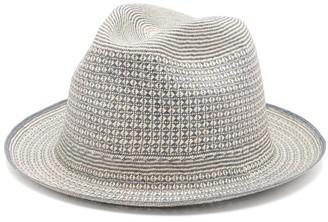 BEIGE Guanabana - Geometric Straw Panama Hat - Mens Multi