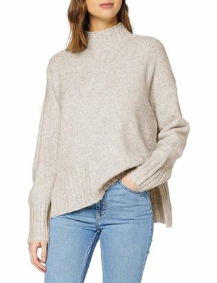 New Look Women's OP DEEP RIB STAND NECK JUMPER Sweater