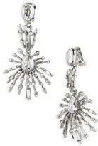 Oscar de la Renta Women's Oscar De Le Renta Radial Crystal Clip Earrings