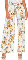 Haute Hippie Annie Wide Leg Pant in White