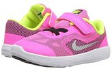 Nike New Baby Girl's Revolution 3 Athletic Shoe Pink Blast/White 9