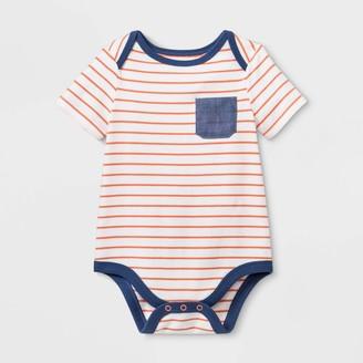 Cat & Jack Baby Boys' Henley Short Sleeve Pocket Bodysuit - Cat & JackTM Blue