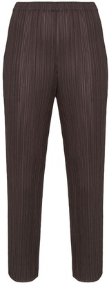 Pleats Please Issey Miyake High-Waisted Slim Trousers
