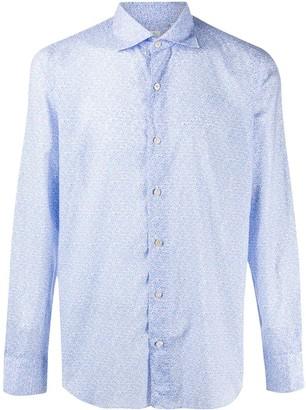 Finamore 1925 Napoli Geometric Long-Sleeve Shirt