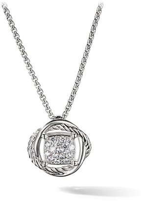 David Yurman Infinity Diamond Pendant on Chain Necklace