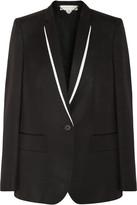 Stella McCartney Tavistock grosgrain-trimmed twill jacket