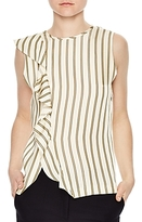 Sandro Bari Striped Asymmetric Top