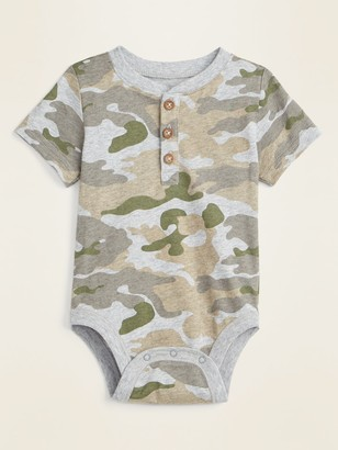 Old Navy Patterned Henley Bodysuit for Baby