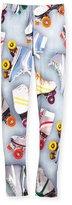 Molo Niki Mixed Floral-Print Stretch Jersey Leggings, Size 3-14